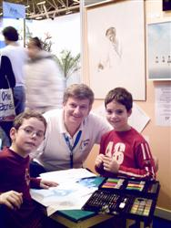 Lucas and Robin, Participants of Pascal's contest, with publishing parents authorization